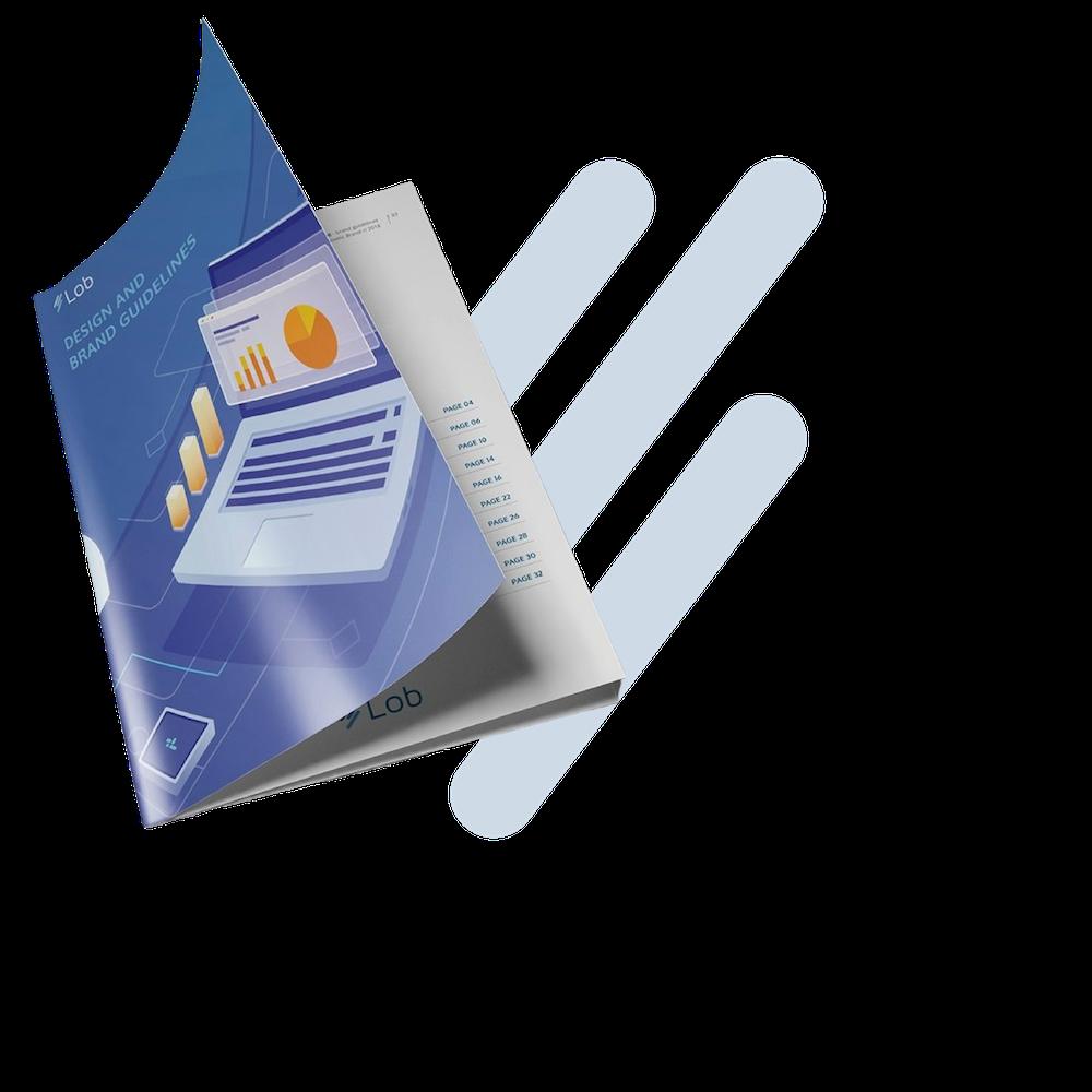 Abrir Guía de estilo de marca con logotipo, fuentes y colores.